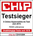 CHIP Award - Rewe ist Testsieger 2015