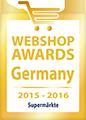 Webshop Award Germany 2015-2016 - Qualitätssiegel